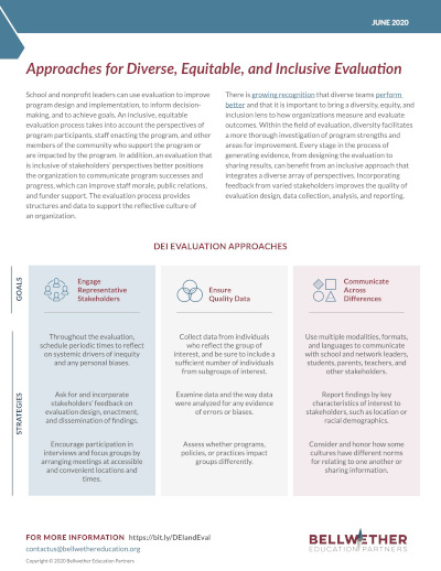 Approaches for Diverse, Equitable, and Inclusive Evaluation