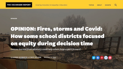 Fires, storms and Covid